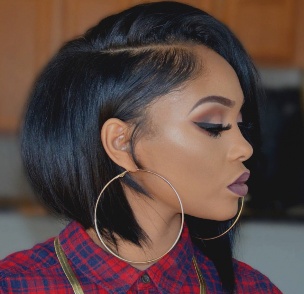 Awesome Of Cute Haircuts For Black Women Short Hairstyles Round Throughout Short Haircuts For Round Faces African American (Gallery 24 of 25)