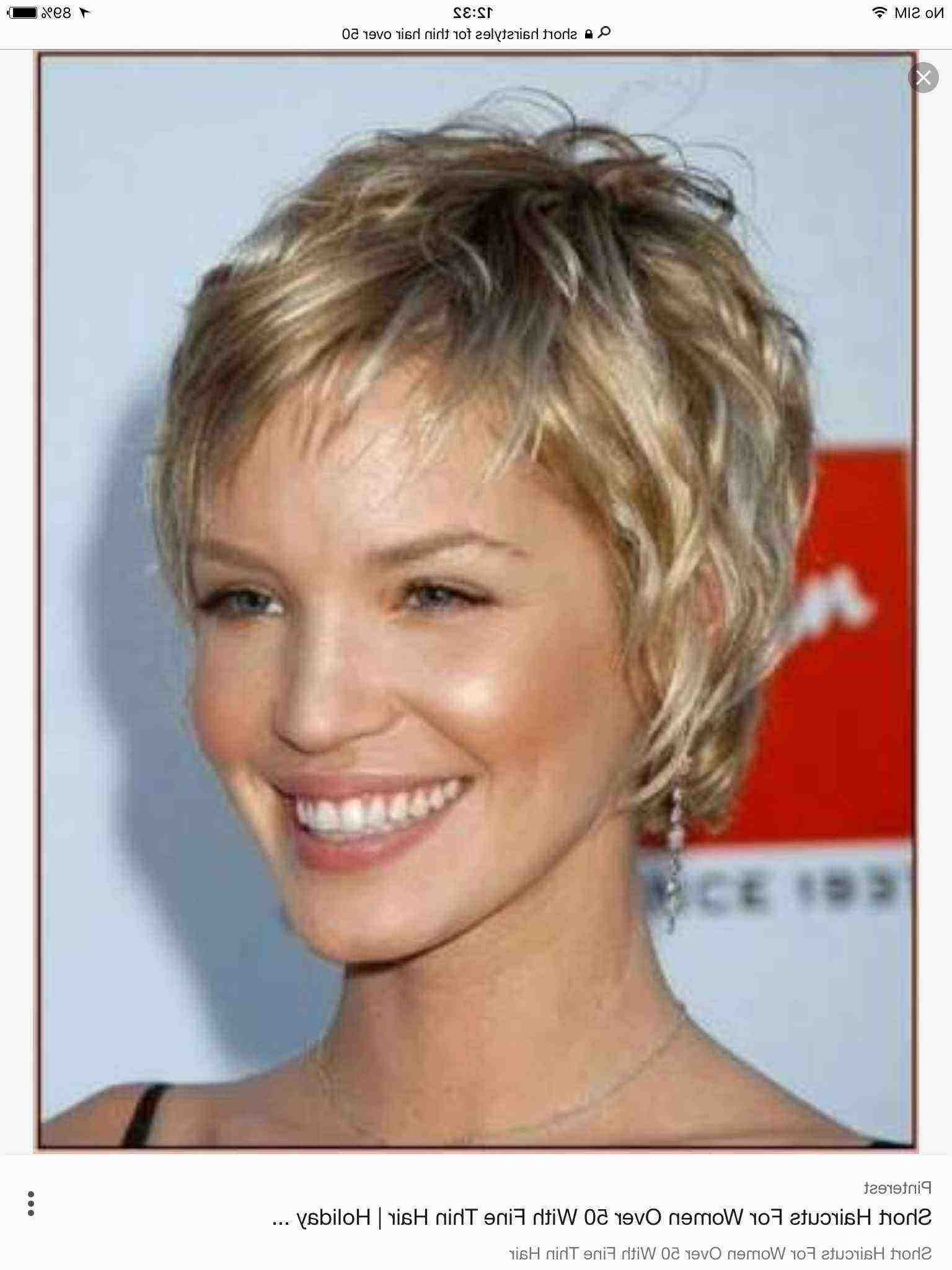 Awesome Short Haircuts For Fine Hair Over 60 • Hairstyletrends Inside Best Short Haircuts For Over 50 (Gallery 3 of 25)