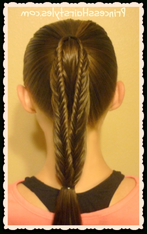 Back To School Hairstyles, Split Fishtail Braid Ponytails | Princess With Fishtail Braid Ponytails (View 23 of 25)