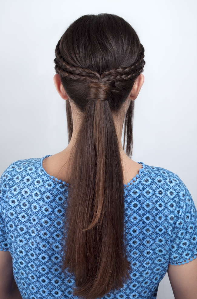 Back To School Style'n | Focus On Hair With French Braid Ponytail Hairstyles With Bubbles (View 24 of 25)