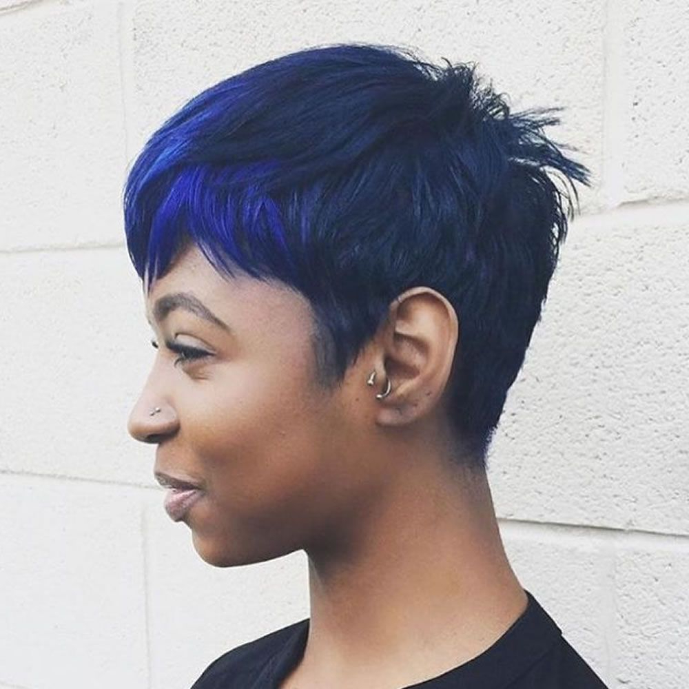 Balayage Black To Blue Short Haircuts For Black Women | Short Hair Throughout Short Haircuts For African Women (View 16 of 25)