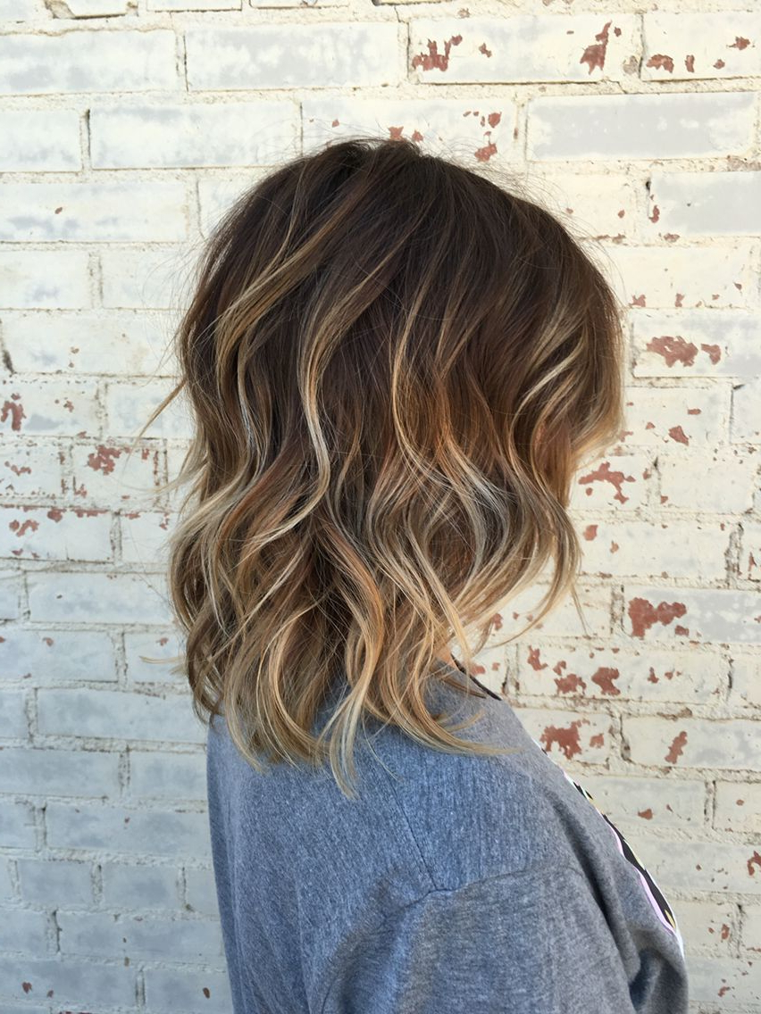 Balayage, Brown Hair, Brown Balayage, Hair, Short Hair, Highlights For Short Bob Hairstyles With Whipped Curls And Babylights (View 11 of 25)