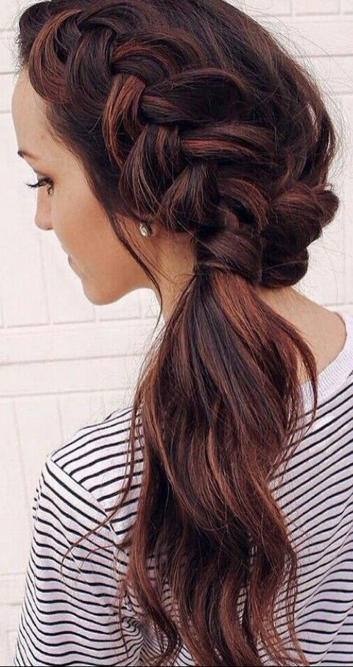 Balayage Side Ponytail With Braid #gorgeoushair | Hair | Pinterest With Regard To Creative Side Ponytail Hairstyles (View 22 of 25)