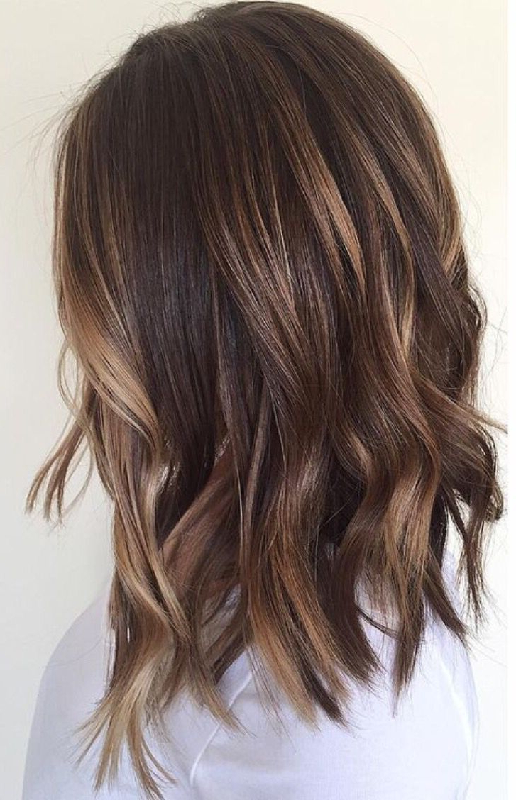 Base Color= Natural Color, Then Hilight   New Hair Styles With Curly Dark Brown Bob Hairstyles With Partial Balayage (View 11 of 25)