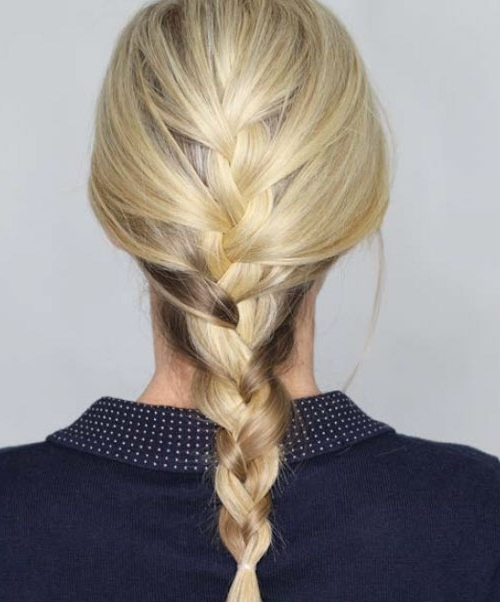 Basic French Braid | Tips, Tricks, & Techniques Maintenance Regarding Braided Maze Low Ponytail Hairstyles (View 9 of 25)