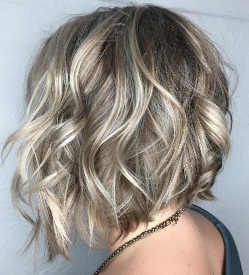 Beautiful And Convenient Medium Bob Hairstyles – Page 26 Of 40 For Disheveled Brunette Choppy Bob Hairstyles (View 11 of 25)