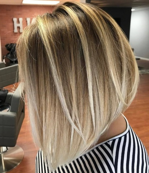 Beautiful And Convenient Medium Bob Hairstyles – Page 8 Of 40 In High Contrast Blonde Balayage Bob Hairstyles (View 22 of 25)