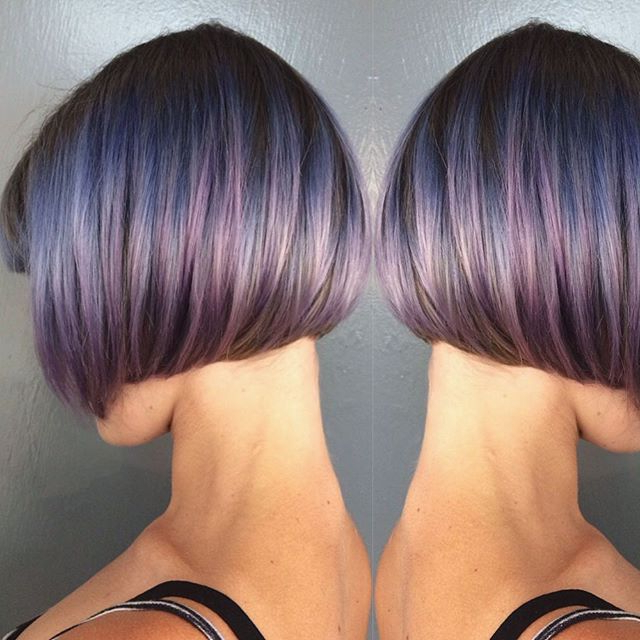 Beautiful Blunt Bob Hair Ideas – Popular Haircuts Intended For Short Crop Hairstyles With Colorful Highlights (View 24 of 25)