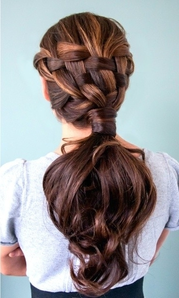 Beautiful Braided Ponytail Hairstyle For Women – Popular Haircuts Intended For Beautifully Braided Ponytail Hairstyles (View 11 of 25)
