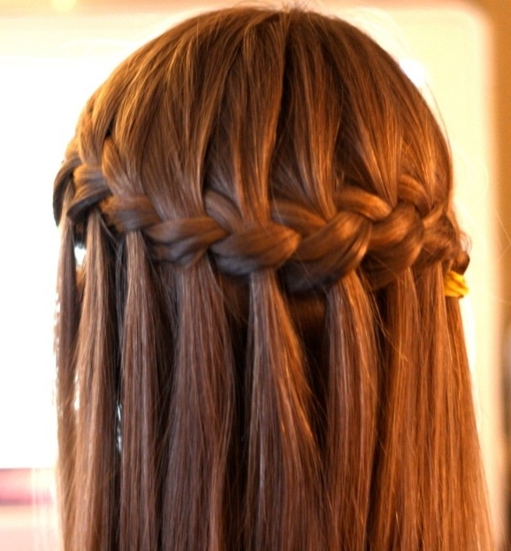 Beautiful Cascade/waterfall Braid Hairstyles Gallery – Hairstyles Weekly In Cascading Braided Ponytails (View 7 of 25)