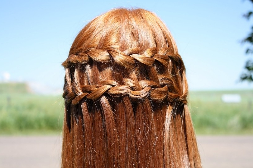 Beautiful Cascade/waterfall Braid Hairstyles Gallery – Hairstyles Weekly Intended For Cascading Braided Ponytails (View 11 of 25)