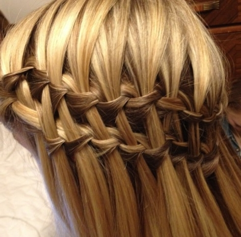 Beautiful Cascade/waterfall Braid Hairstyles Gallery – Hairstyles Weekly Regarding Cascading Braided Ponytails (View 8 of 25)