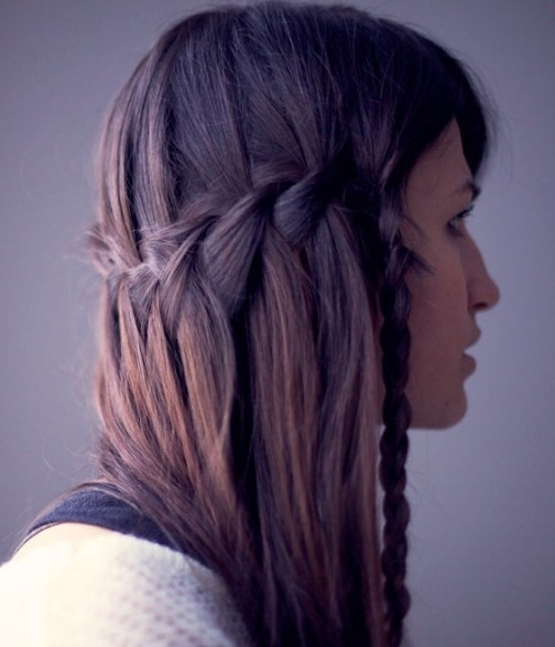 Beautiful Cascade/waterfall Braid Hairstyles Gallery – Hairstyles Weekly With Regard To Cascading Braided Ponytails (View 6 of 25)