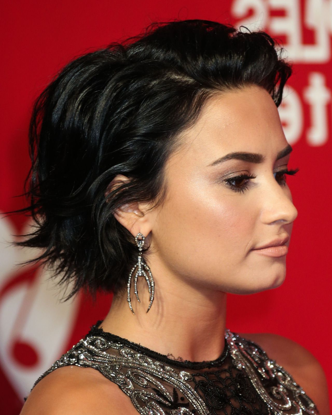 Beautiful Short Bob Hairstyles And Haircuts With Bangs | Female With Demi Lovato Short Haircuts (View 7 of 25)