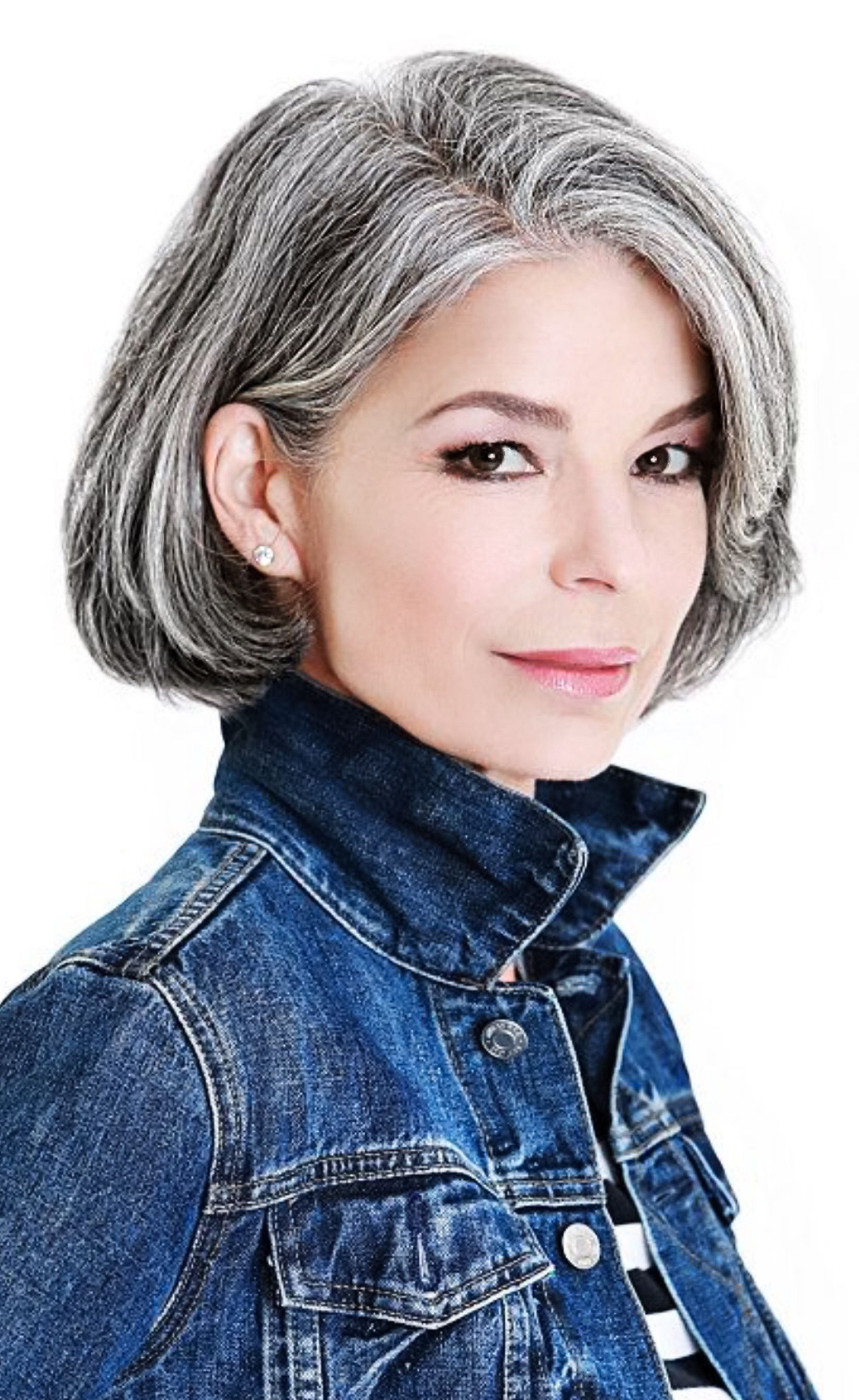 Beautiful Short Bob Hairstyles And Haircuts With Bangs   Female With Regard To Short Hairstyles For Grey Haired Woman (View 7 of 25)