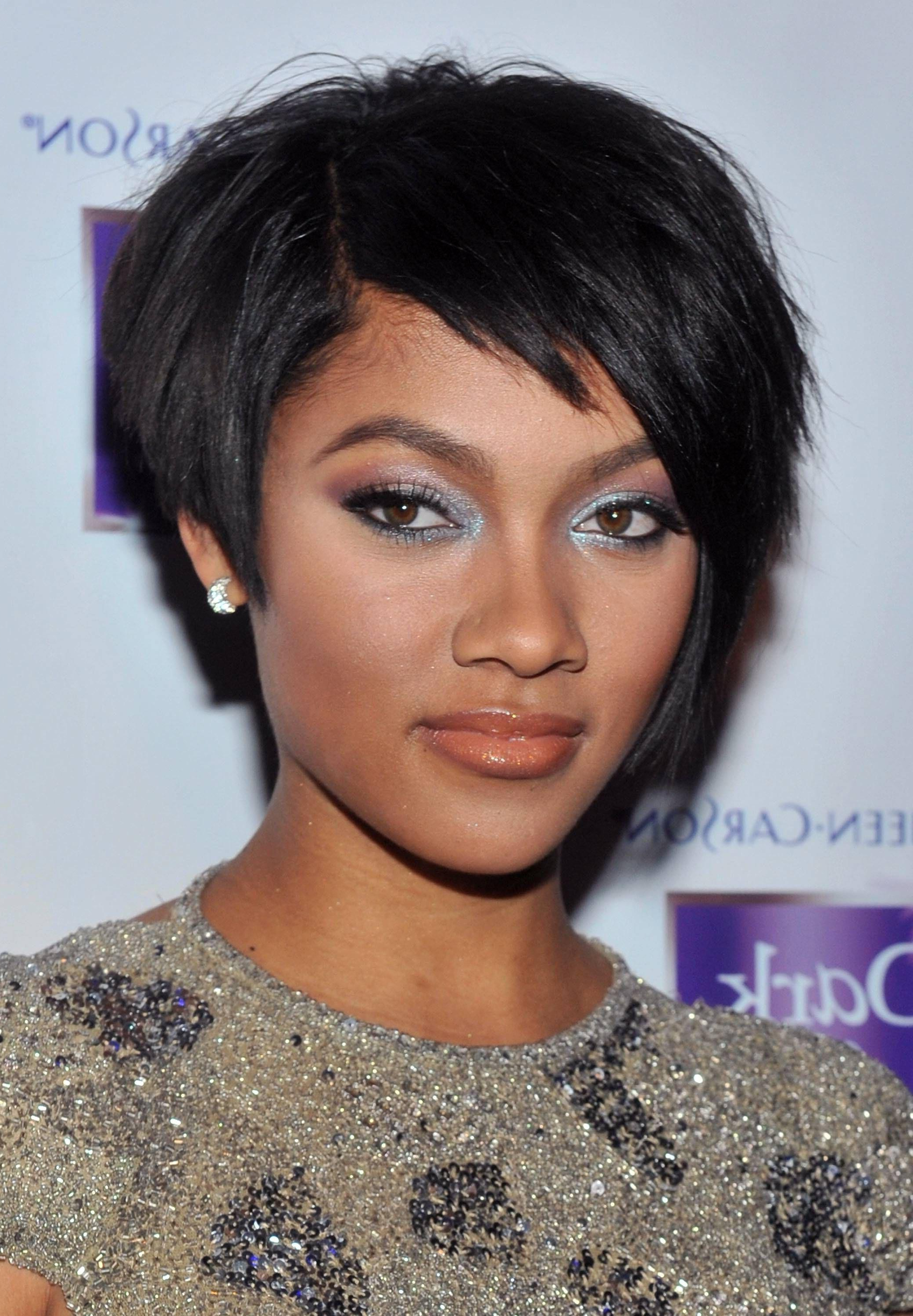 Beautiful Short Hairstyles For Black Women With Round Faces 2016 Concept Within Short Hairstyles For Round Faces African American (View 18 of 25)