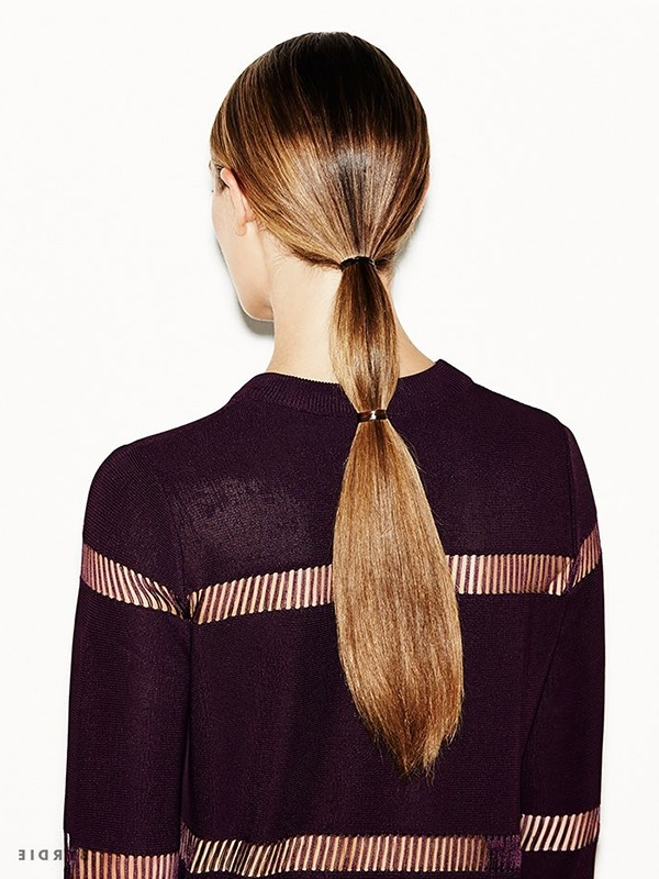 Beauty Note: Cold Weather Hairstyles – Lauren Conrad With Regard To Sleek Ladylike Ponytail Hairstyles (View 21 of 25)