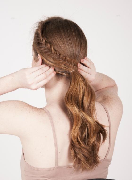 Beauty Tutorial – Textured Fishtail Braid Ponytail Inside Fishtail Braid Ponytails (View 17 of 25)