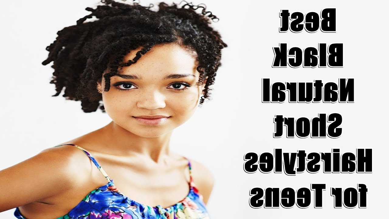 Best Black Natural Short Hairstyles For Teens – Youtube For Short Haircuts For Black Teens (View 8 of 25)