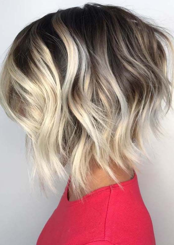 Best Ever Textured Short Bob Haircuts To Sport In 2018 | Hair In Hazel Blonde Razored Bob Hairstyles (View 7 of 25)