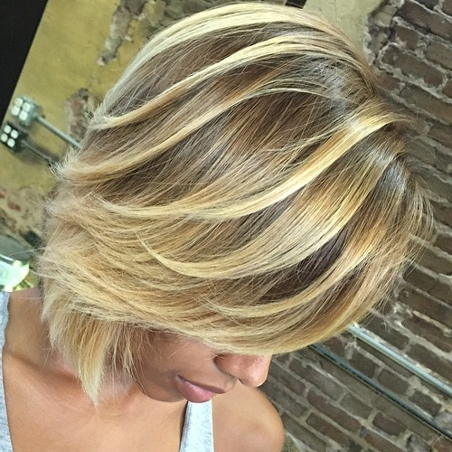 Best Hair Color Ideas For Short Haircuts In 2017 – Top Nail Tips For Pertaining To Short Bob Hairstyles With Dimensional Coloring (View 25 of 25)