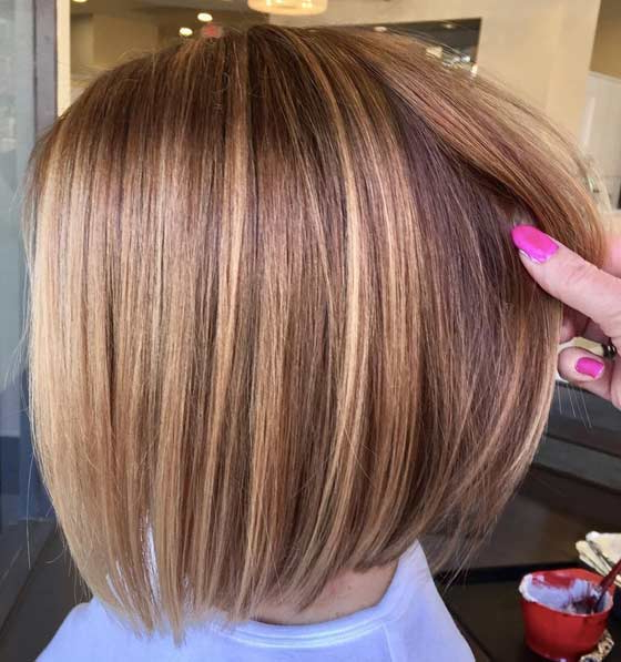 Best Hair Colors For Warm Skin Tone And Blue Eyes | Hairstyles For Short Crisp Bronde Bob Haircuts (View 22 of 25)