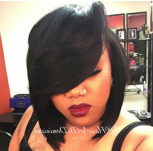 Best Hairstyles For Black Women In 2014 Intended For Side Parted Asymmetrical Gray Bob Hairstyles (View 7 of 25)