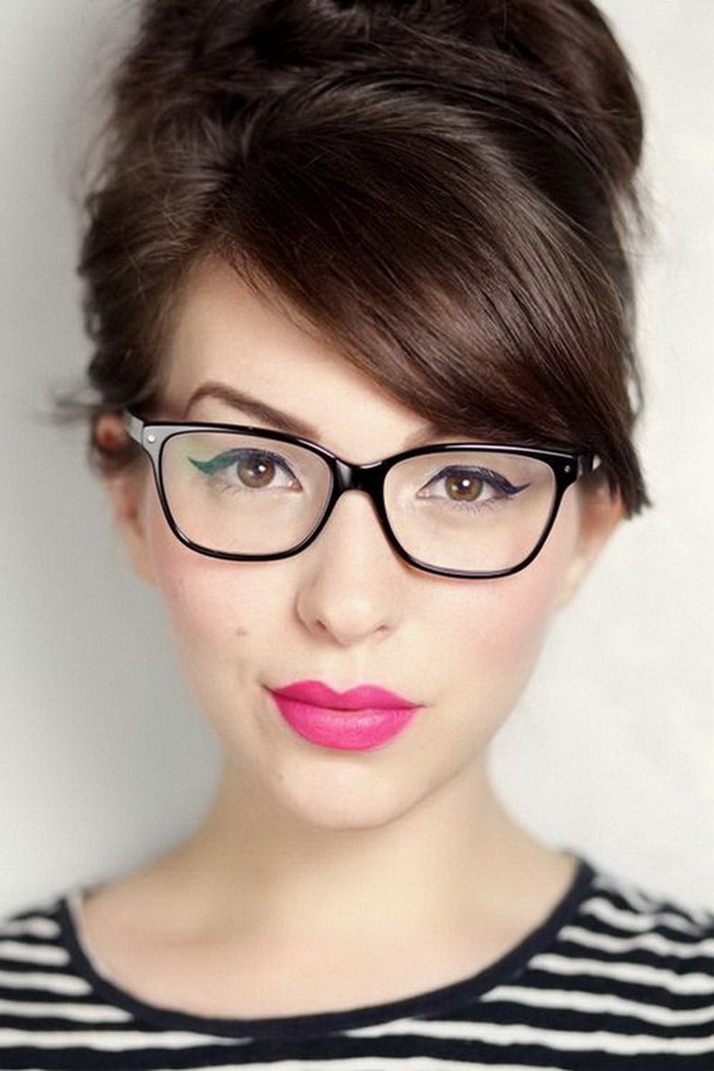 Best Hairstyles For Female Glasses Wearers   Hairstyles   Hair, Make For Short Haircuts For Glasses Wearer (View 6 of 25)