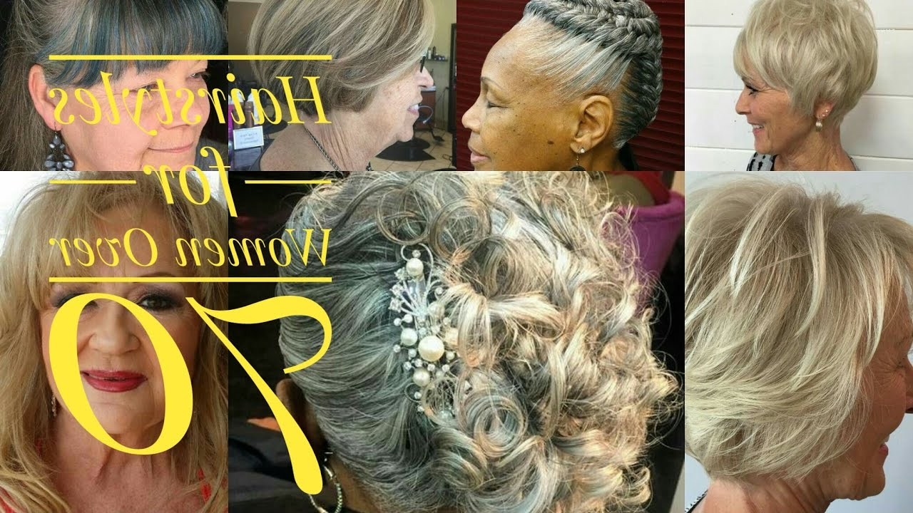 Best Hairstyles For Women Over 70 – Youtube Inside Short Haircuts For Women Who Wear Glasses (View 16 of 25)