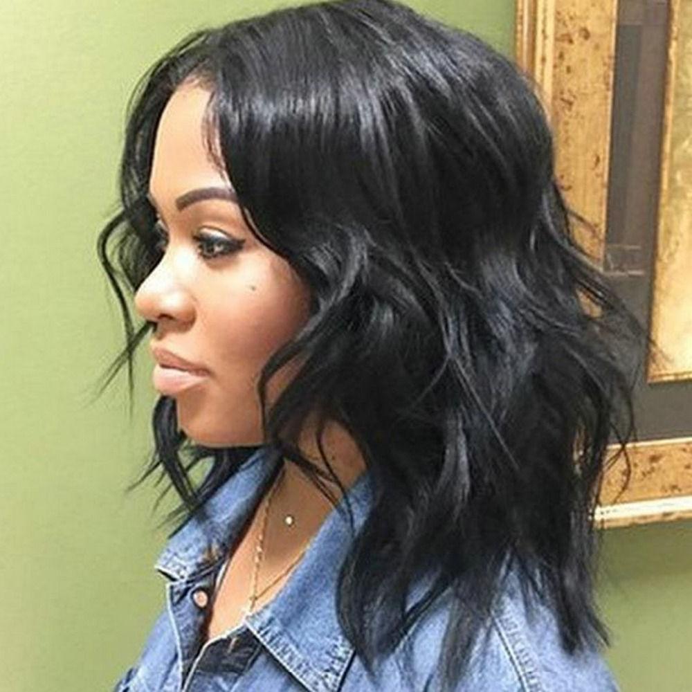 Best Medium Wavy Weave Hairstyle Black Women | Hair Styles In 2018 Throughout Bob Short Hairstyles For Black Women (View 12 of 25)