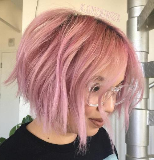 Best Short Bob Haircut Ideas In 2017 – Best Beauty Design For Women Pertaining To Choppy Brown And Lavender Bob Hairstyles (View 23 of 25)