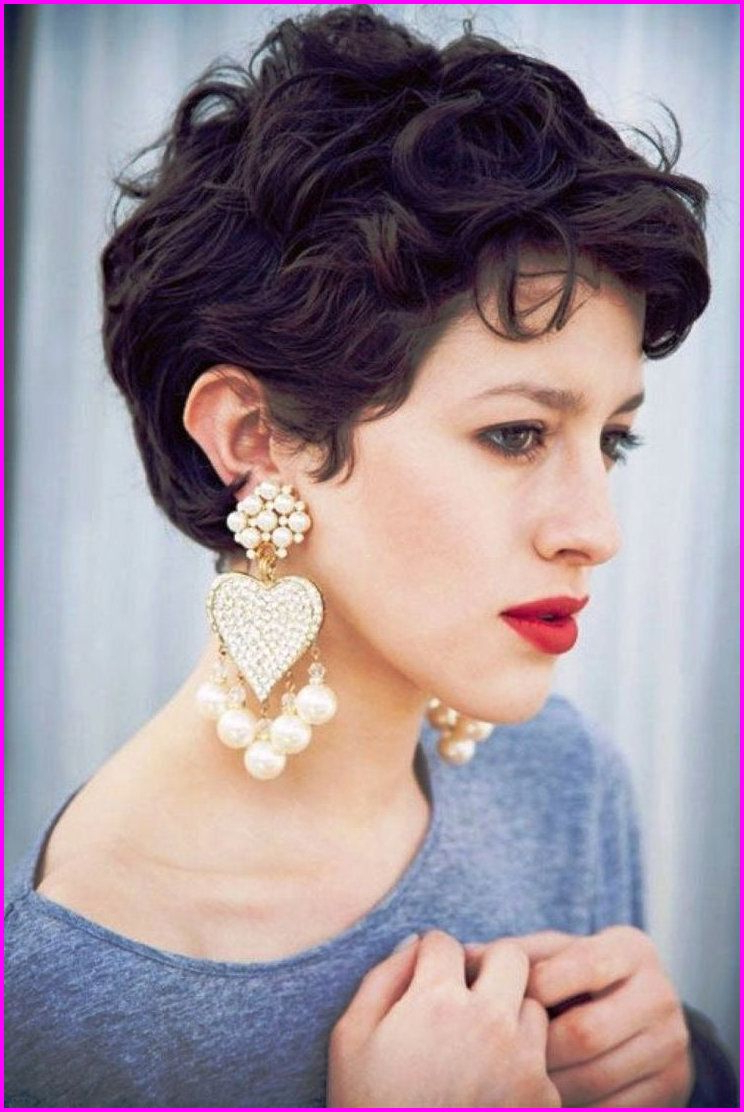 Best Short Haircuts For Curly Hair & Round Face 2019 | Short Regarding Messy Curly Pixie Hairstyles (View 13 of 25)