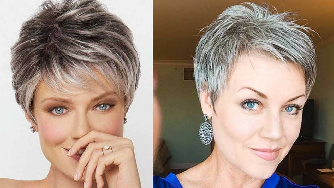 Best Short Haircuts For Older Women In 2018 – Youtube In Short Haircuts For Seniors (View 22 of 25)