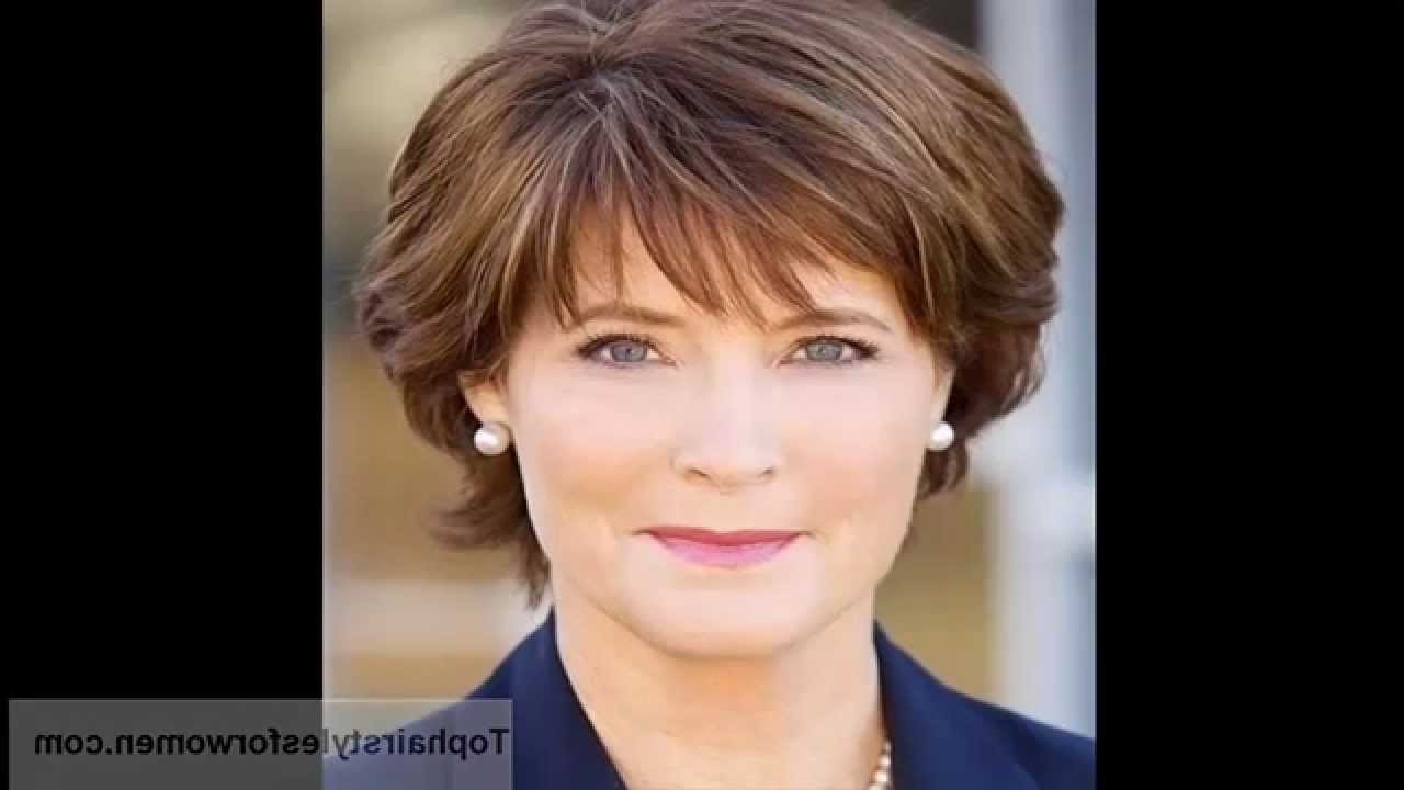 Best Short Hairstyles For Women Over 50 – Youtube Intended For Short Haircuts For Women Over  (View 13 of 25)