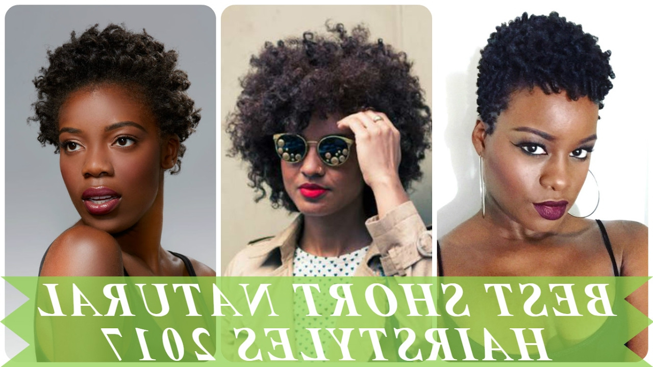 Best Short Natural Hairstyles For African Women 2017 – Youtube Inside Short Haircuts For Kinky Hair (View 12 of 25)