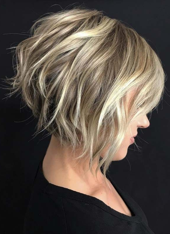 Best Tousled Textured Short Haircuts You Must Try In 2018 | Short Throughout Dynamic Tousled Blonde Bob Hairstyles With Dark Underlayer (View 2 of 25)