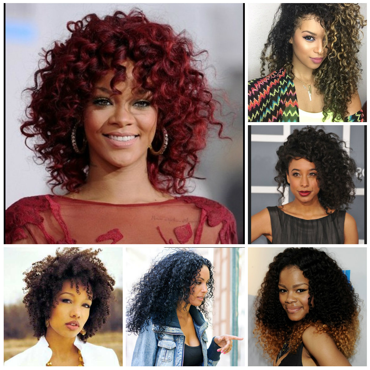 Big Natural Curly Hairstyles For Black Women 2019 | Hairstyles For Within Big Curls Short Hairstyles (View 7 of 25)