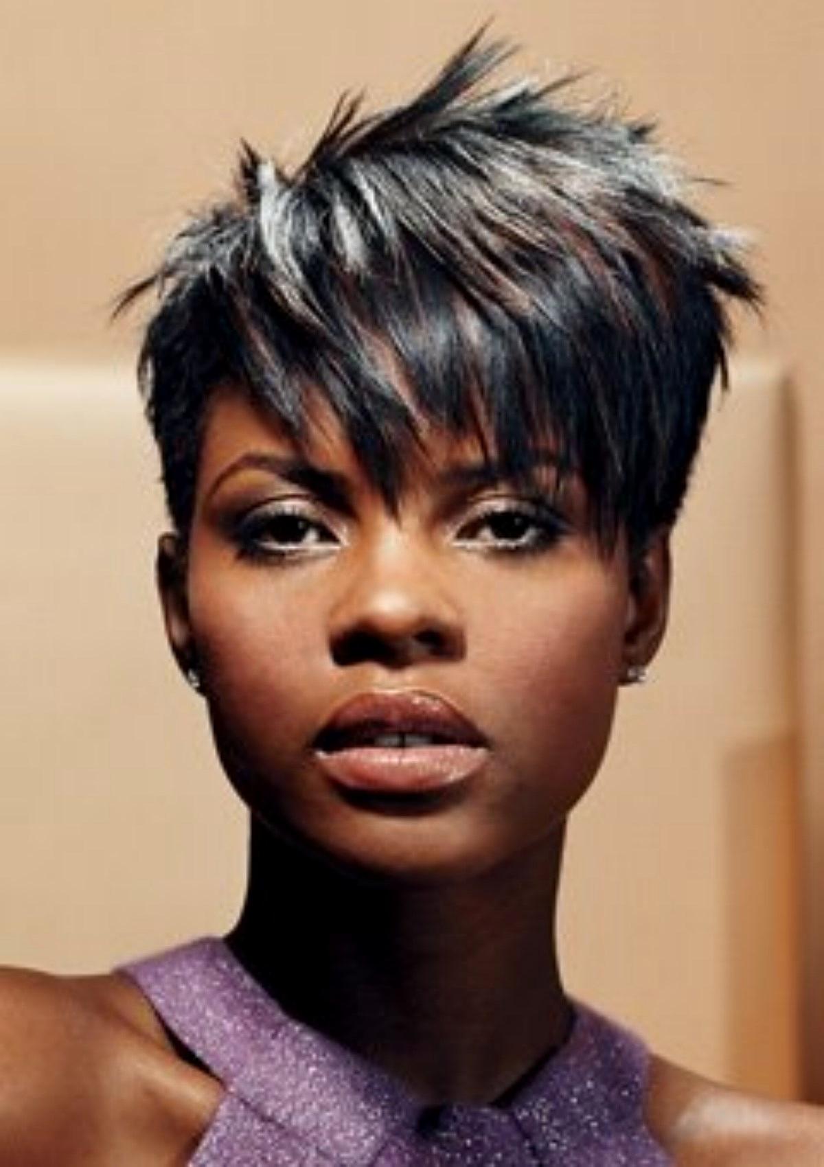 Black African American Short Hairstyles Black Short Haircuts With African Women Short Hairstyles (View 25 of 25)