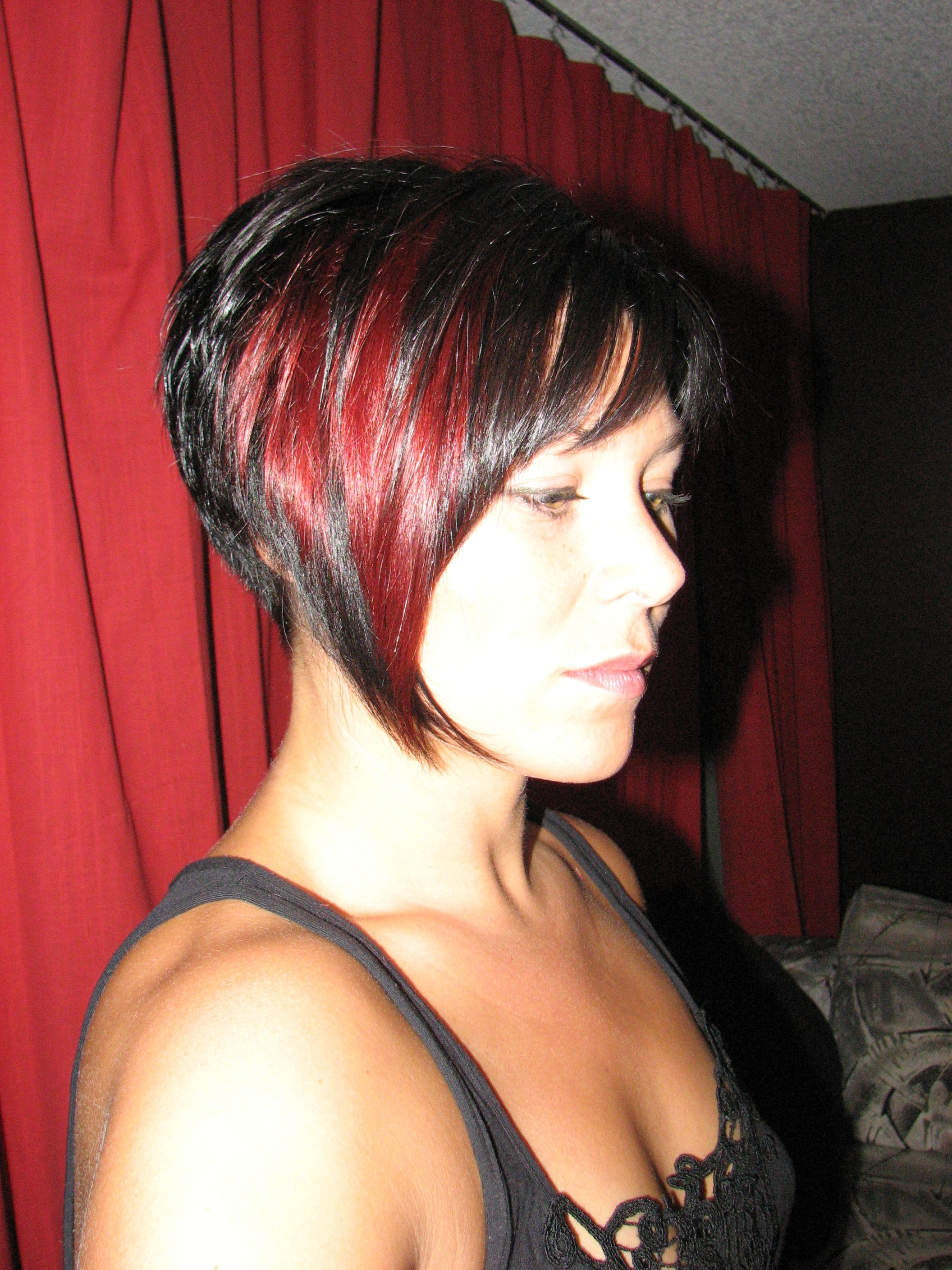 Black And Red Hair – Short With Bangs | Hairstyles | Pinterest | Red Intended For Short Hairstyles For Red Hair (View 25 of 25)