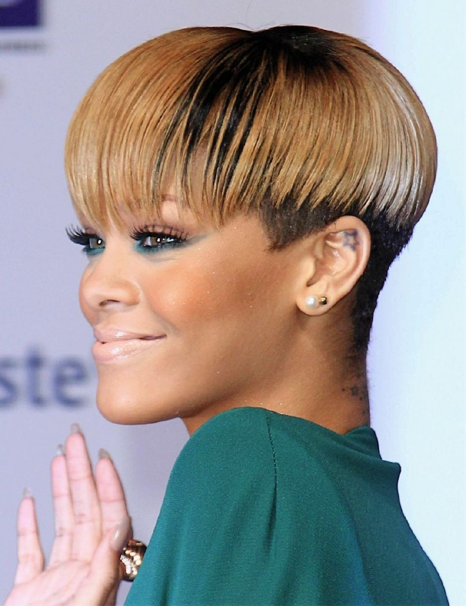 Black Celebrity Short Hairstyles Black Short Hairstyles With Shaved Regarding Shaved Side Short Hairstyles (View 23 of 25)