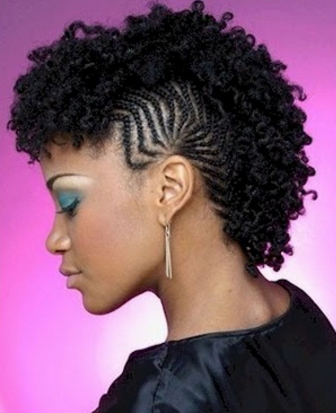 Black Girl Mohawk Hairstyle – Hairstyle For Women & Man Intended For Mohawk Short Hairstyles For Black Women (View 7 of 25)