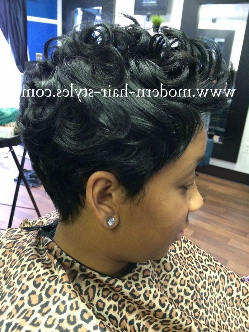Black Hair Hairstyles Of Short Razor Cuts, Quick Weaves, And More In Razor Cut Short Hairstyles (View 2 of 25)