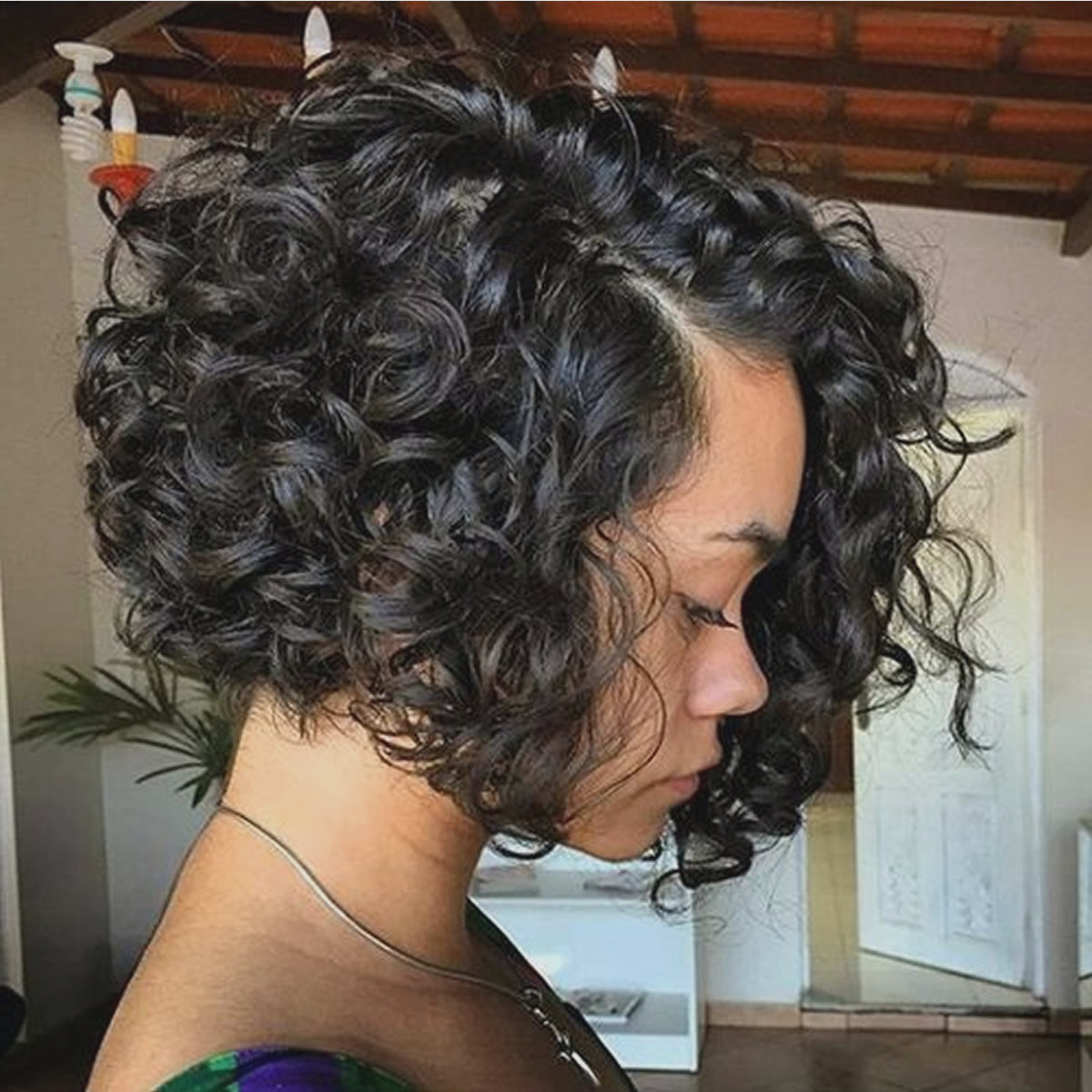 Black Hairstyles : Curly Bob Hairstyles For Black Women Curly Angled With Curly Angled Bob Hairstyles (View 19 of 25)