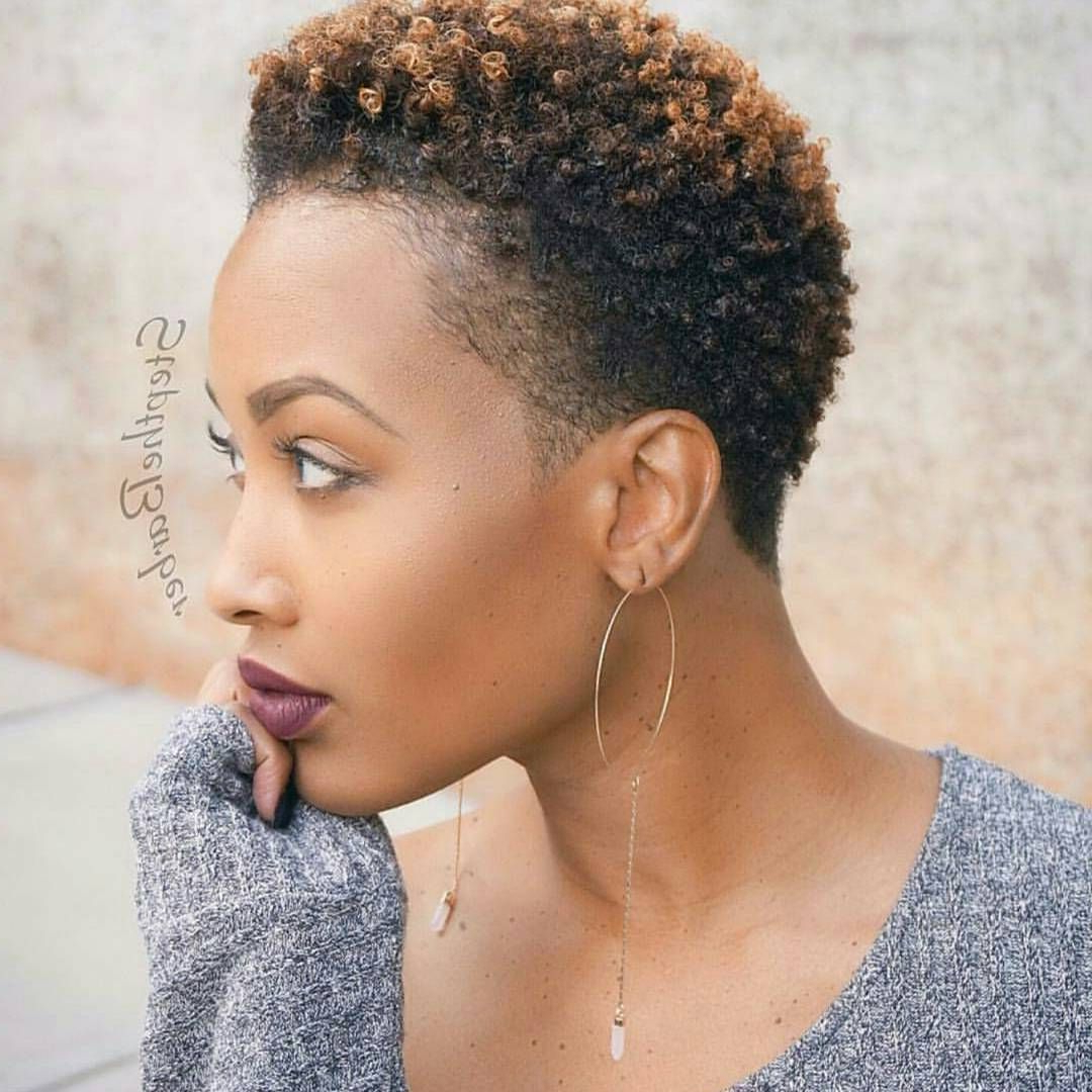 Black Short Natural Hairstyles – Leymatson Within Short Haircuts For Black Women With Fine Hair (View 22 of 25)