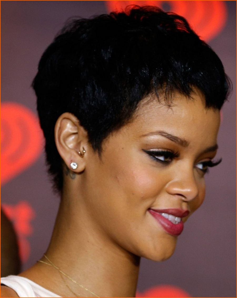 Black Women Short Hairstyle With Round Face (11) – Hairstyles, Easy Intended For Short Hairstyles For Black Round Faces (View 25 of 25)