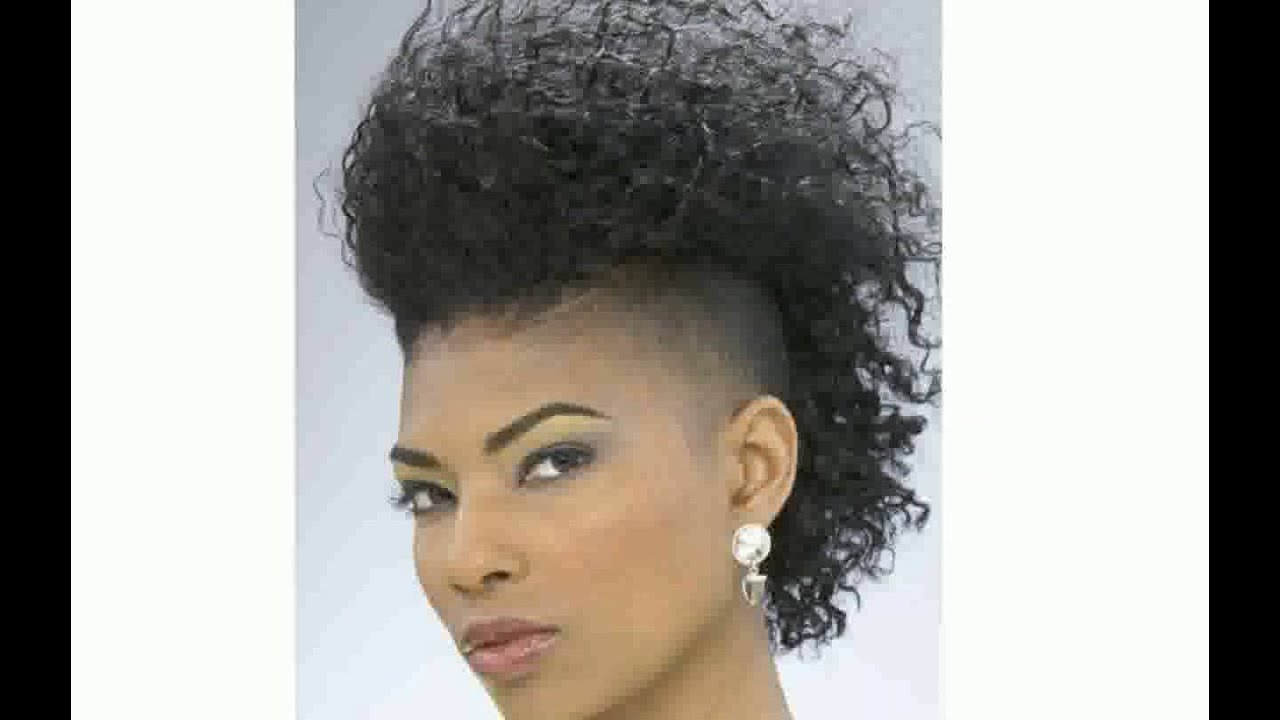 Black Women With Mohawk Hairstyle – Youtube In Mohawk Short Hairstyles For Black Women (View 16 of 25)