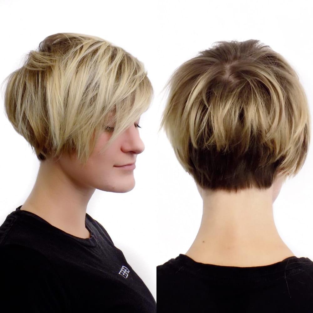 Blonde Balayage And Short Razor Cut Bobdenessa Sims – Yelp Within Razor Cut Short Hairstyles (View 22 of 25)