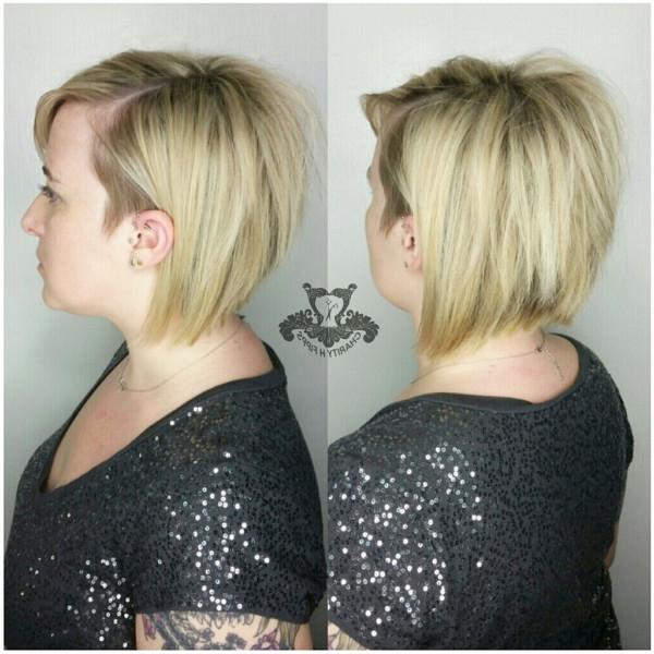 Blonde ? Asymmetrical Undercut Side Bob Haircut ? Side Bangs With Regard To Asymmetrical Unicorn Bob Haircuts (View 25 of 25)