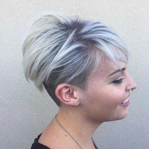 Blonde, Red, Brown, Ombre Ed And Highlighted Pixie Cuts For Any Pertaining To Ash Blonde Undercut Pixie Haircuts (View 4 of 25)