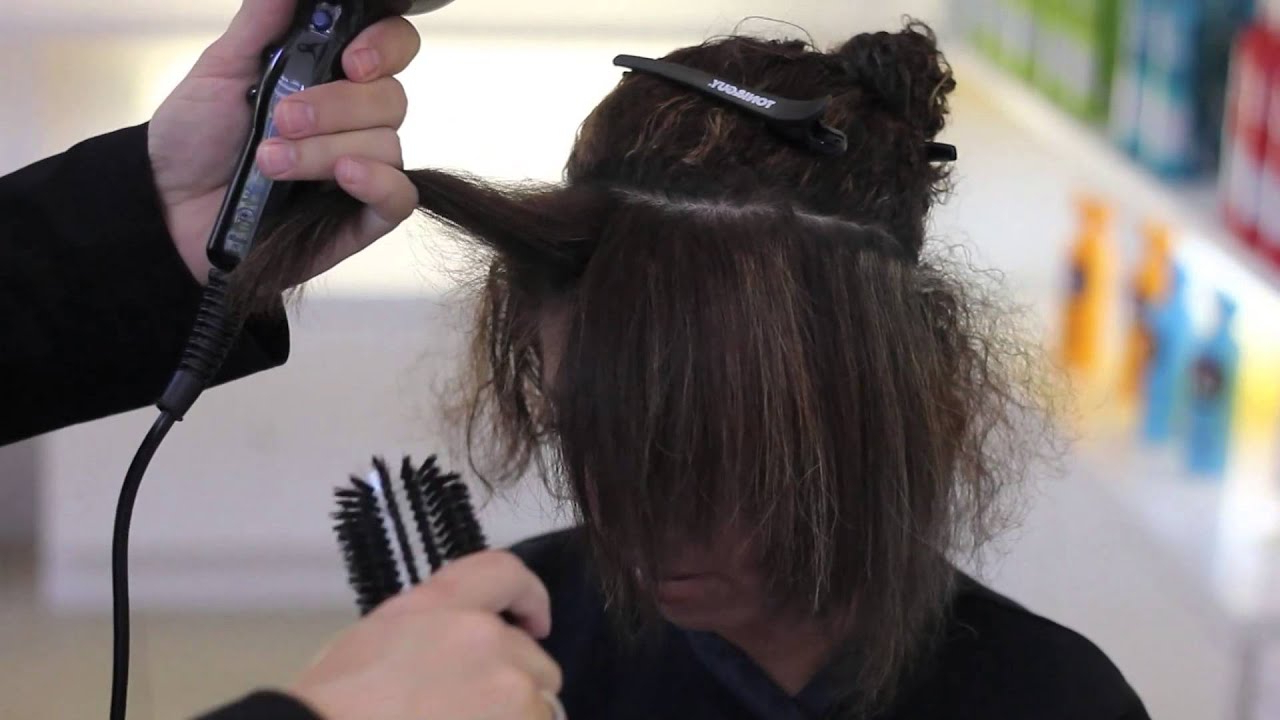Blow Dry Technique On Short & Curly Hair – Youtube Intended For Blow Dry Short Curly Hair (View 8 of 25)